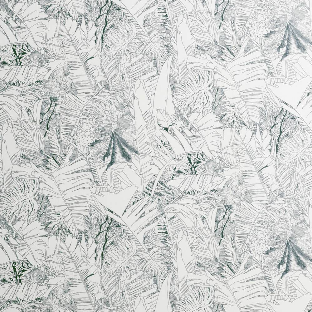Jungle wallpaper ink on white - Made in France