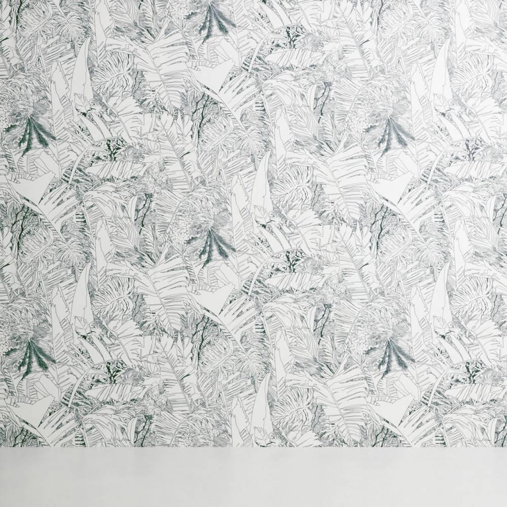 Tropical wallpaper Tiphaine de Bodman for Petite Friture