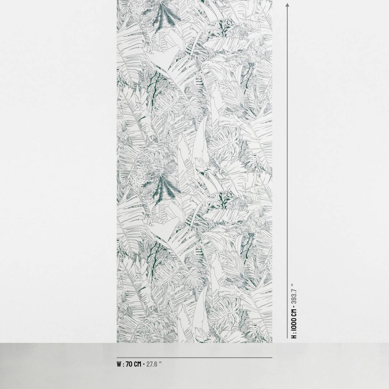 Jungle wallpaper - ink on white size - Petite Friture