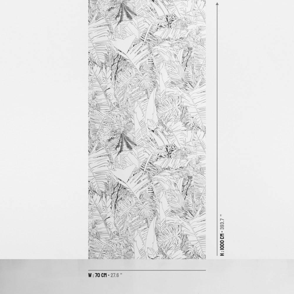 Jungle wallpaper black on white - Petite Friture